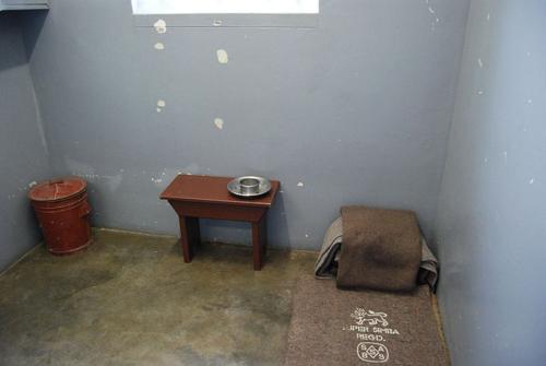 Cellule de Nelson Mandela à Robben Island