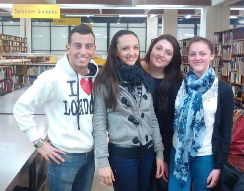 Un groupe d'étudiant Franco-Italien composé de : Luca Di Giuseppe ; Elettra Doglio ; Deborah Pati ; Mona El Jadaoui.
